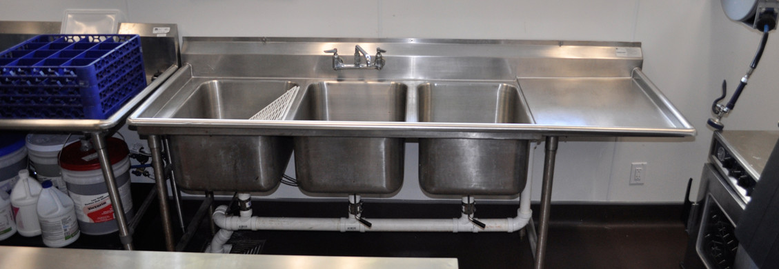 kitchen sinks  commercial restaurant installation Square Grouper Restaurant